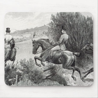 Prince Albert Hunting near Belvoir Castle Mouse Mat