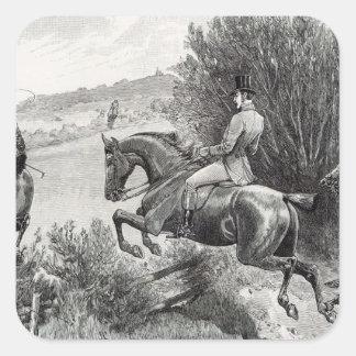 Prince Albert Hunting near Belvoir Castle Square Sticker