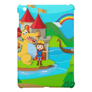 Prince and dragon in the fairy land cover for the iPad mini