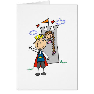 Prince and Girl in Tower Tshirts and Gifts Card