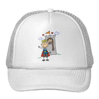 Prince and Girl in Tower Tshirts and Gifts Trucker Hats