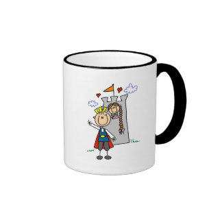 Prince and Girl in Tower Tshirts and Gifts Coffee Mugs