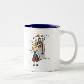 Prince and Girl in Tower Tshirts and Gifts Mug