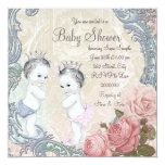 Prince and Princess Twin Baby Shower Invite