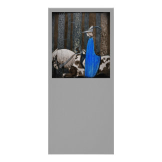 Prince and Tomten Ride Through the Woods Rack Card Design