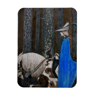 Prince and Tomten Ride Through the Woods Rectangular Photo Magnet
