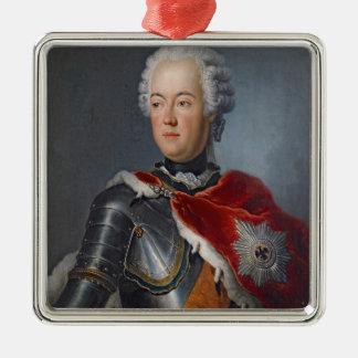 Prince Augustus William Silver-Colored Square Decoration