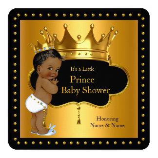 Prince Baby Shower Cute Boy Crown Ethnic 13 Cm X 13 Cm Square Invitation Card