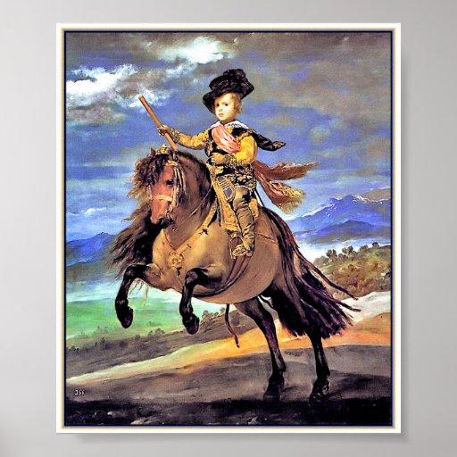 Prince Baltasar Carlos on Horseback Poster