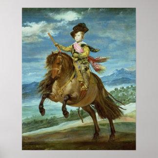 Prince Balthasar Carlos on horseback, c.1635-36 Poster