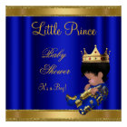 Prince Boy Baby Shower Blue 2 African American Poster