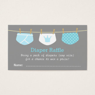 Prince Boy Baby Shower, Cute Diaper Raffle Tickets