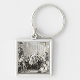 Prince Charles Edward  and the Highlanders Key Ring