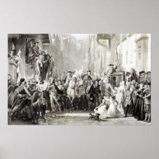 Prince Charles Edward  and the Highlanders Print