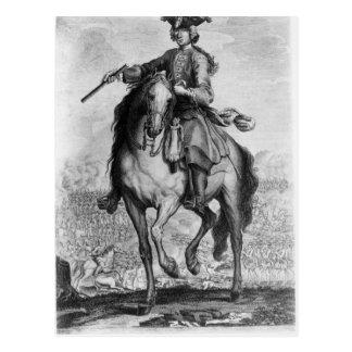 Prince Charles Edward Stuart at the Battle Postcard