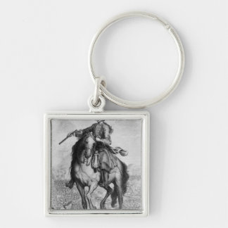 Prince Charles Edward Stuart at the Battle Silver-Colored Square Key Ring