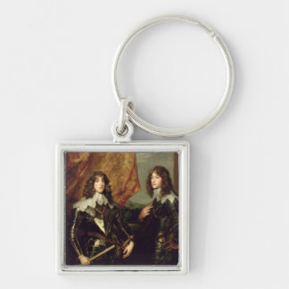 Prince Charles Louis  Elector Palatine Silver-Colored Square Key Ring