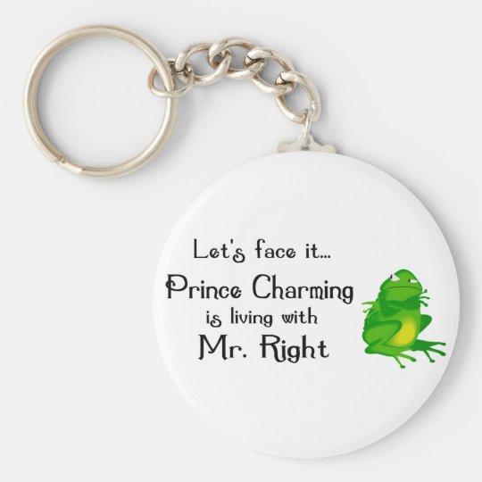 Prince Charming Basic Round Button Key Ring