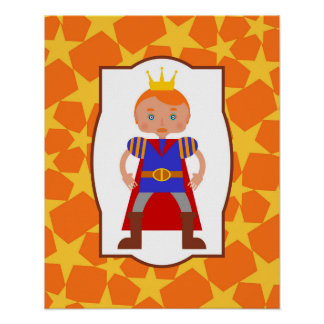 Prince Charming Boy Birthday Party Poster