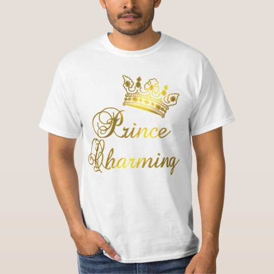 Prince Charming in Gold T-shirt for Baby or