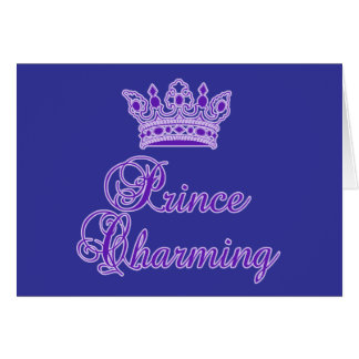 Prince Charming in Royal Purple for Baby or Adult Card
