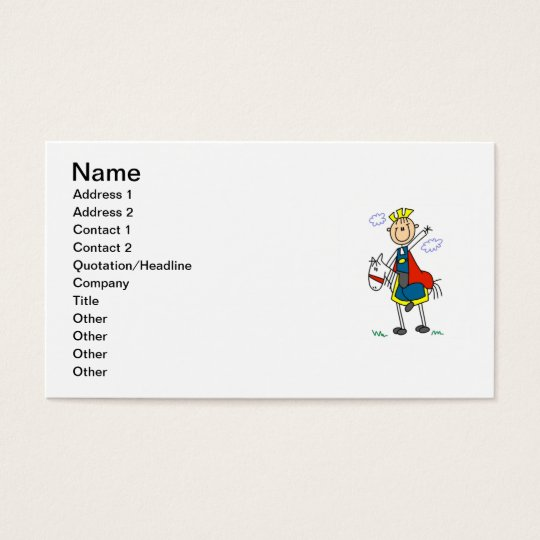 Prince Charming on Horse Business Card