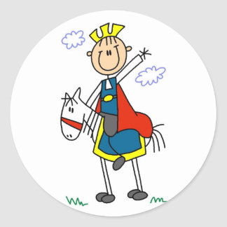 Prince Charming on Horse Tshirts and Gifts Stickers