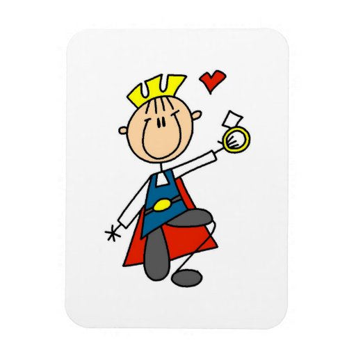 Prince Charming Proposes Marriage Vinyl Magnet