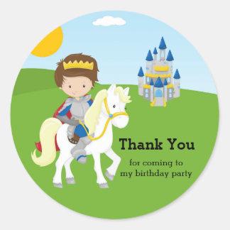 Prince Charming Round Sticker