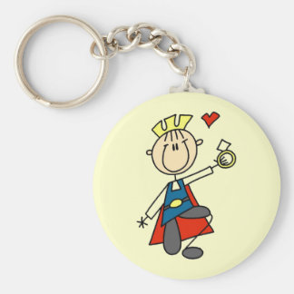 Prince Charming Wedding Proposal Tshirts and Gifts Basic Round Button Key Ring