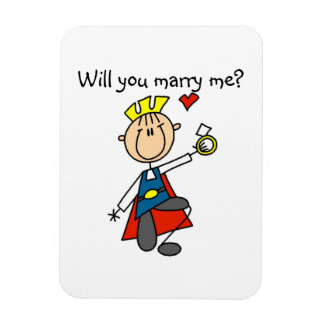 Prince Charming Will You Marry Me Vinyl Magnet