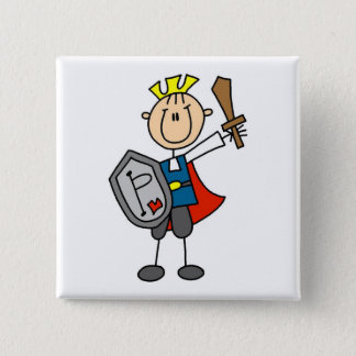 Prince Charming With Sword 15 Cm Square Badge