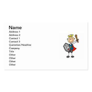 Prince Charming With Sword Pack Of Standard Business Cards