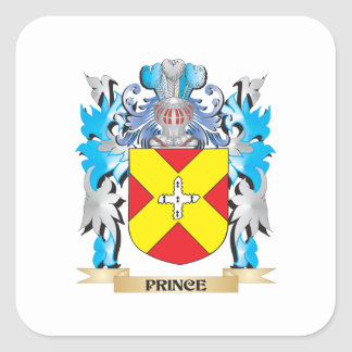 Prince Coat of Arms - Family Crest Square Sticker