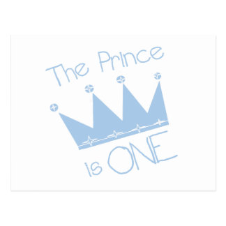 Prince Crown 1st Birthday Tshirts and gifts Postcard