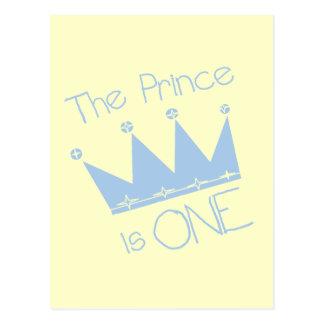 Prince Crown 1st Birthday Tshirts and gifts Postcard