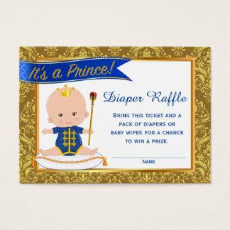 Prince Diaper Raffle Cards Diaper Raffle Tickets