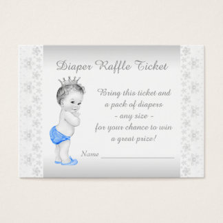 Prince Diaper Raffle Ticket