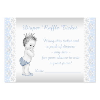 Prince Diaper Raffle Ticket Pack Of Chubby Business Cards