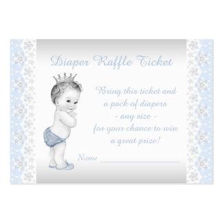 Prince Diaper Raffle Ticket Business Card Templates