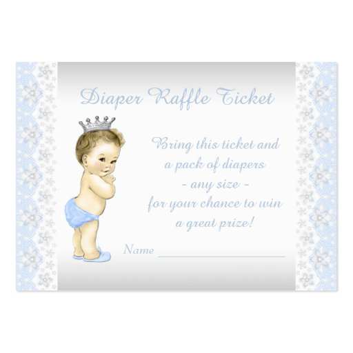 Prince Diaper Raffle Ticket Business Card Templates