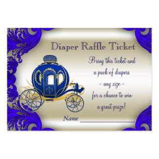Prince Diaper Raffle Tickets Pack Of Chubby Business Cards