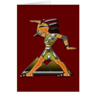 Prince Doing Funky Egyptian Dance Greeting Card