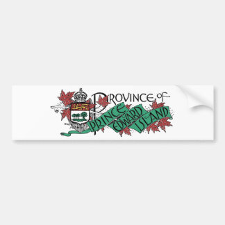 Prince Edward Island Vintage Coat of Arms Drawing Bumper Sticker
