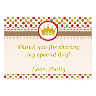 Prince Favor Label Thank You Tag or Label Pack Of Chubby Business Cards