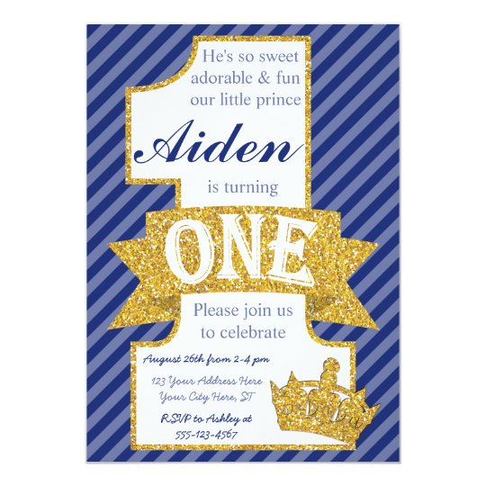 Prince first birthday invitation with envelopes zazzle prince first birthday invitation with envelopes filmwisefo