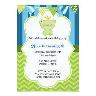 Prince Frog Birthday Invitation