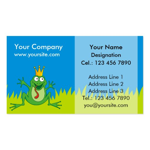 Prince Frog Business Card Template