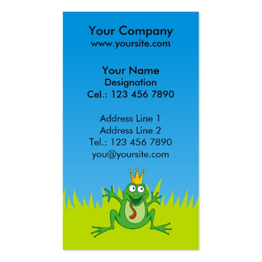 Prince Frog Business Card