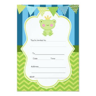 Prince Frog Invitation Fill In